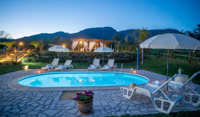 casa vacanze con piscina nel cilento